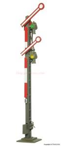 Viessmann - Semaforo de dos Brazos, funcional, luminico, corte de via, Analogico, Escala H0, Ref: 4531.
