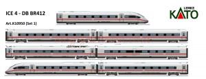 Kato/Lemke - Tren de Alta Velocidad ICE 4, DB AG, 7 coches, Escala N, Ref: 10950.