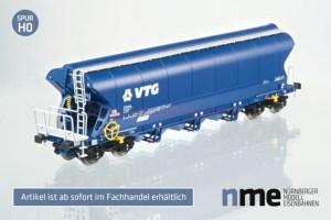 MNE - Vagón de Cereal VTG. Tagnpps, Alterna, Luces de cola, Escala H0. Ref: 505695.