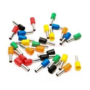 Zaratren - 100 Terminales para cable ( Violas ), de 0,5 mm, Color Rojo, Ref: E0508R.