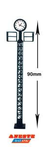 Aneste - Reloj con poste Ferroviario, Con iluminación interior, Escala H0, Ref: 1005.