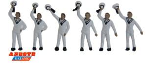 Aneste - Marineros saludando. 6 Figuras. Ref: 4515.