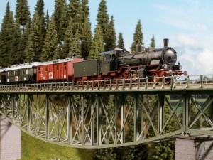 Noch - Puente Fishbelly, Tramo recto de 360 mm, Escala H0, Ref: 67027.