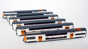 IH - Tren Automotor UT450, Dos pisos, Versión Naranja-Blanco, Serie limitada, Escala N, Ref: IH-T006.