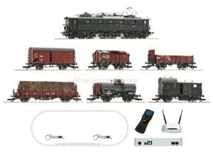 Roco - Set de iniciación Loc. Electrica, Clase E52, DRG, Con V. Mercancias, D. Sonido, Z21, mando Inalambrico, Ref: 51323.
