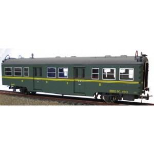 K*Train - Coche viajeros serie 7000 Mixto, 2ª y 3ª clase BC-7060, Escala H0, Ref: 0602-N.