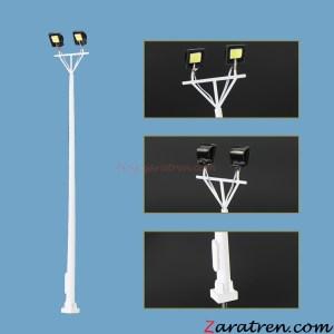 Zaratren - Torre Iluminación de dos focos, Tipo 81, Tecnologia LED, Escala H0, Ref: ZT-FR1026.