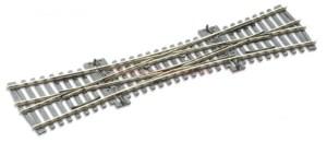Peco - Desvio cruce doble, angulo 12º, long. 251 mm, Code 100, Insulfrog, Escala H0, Ref: SL-90.