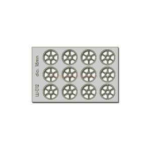 Proses - Conjunto de 12 ventanas de 18 mm de Diametro, Corte Laser, Escala H0, Ref: W-012.