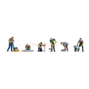 Noch - Obreros de la construcción de carreteras, Siete Figuras, Escala H0, Ref: 15112.