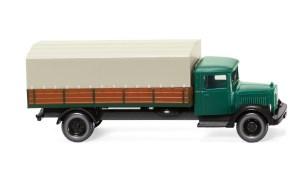 Wiking - Camión MB L 2500 Mercedes Benz, Verde Pino, Escala N, Ref: 094307.