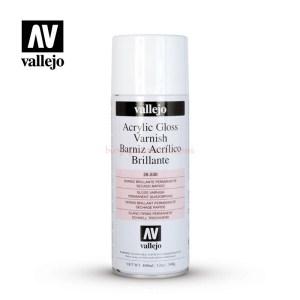 Vallejo - Aerosol Barniz Acrilico Brillante, Spray de 400 ml, Ref: 28.530.