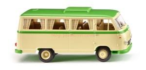 Wiking - Borgward Campingbus B611, Color Beige marfil, verde amarillento, Escala H0, Ref: 027044