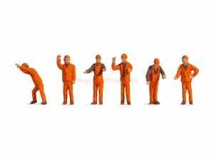 Noch - Personal de maniobras de Ferrocarril, seis figuras, Escala H0, Ref: 18011