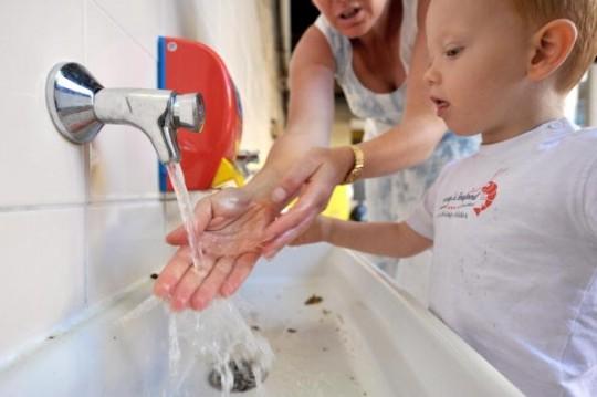 Händewaschen nicht vergessen!