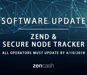 ZenCash and secure node tracker Software Update