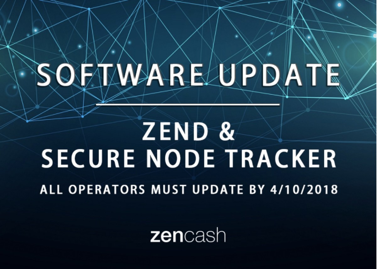 ZenCash Software Updates: ZEND and Secure Nodes Tracker