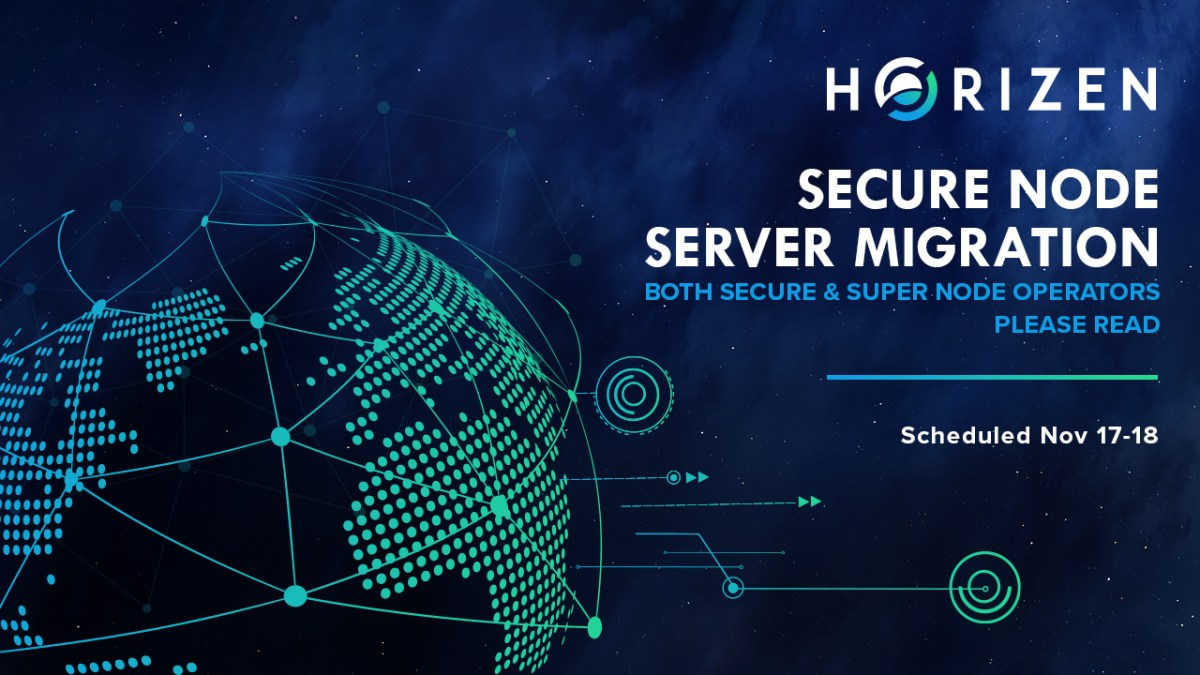 [Maintenance] Horizen Secure Node Server Migration