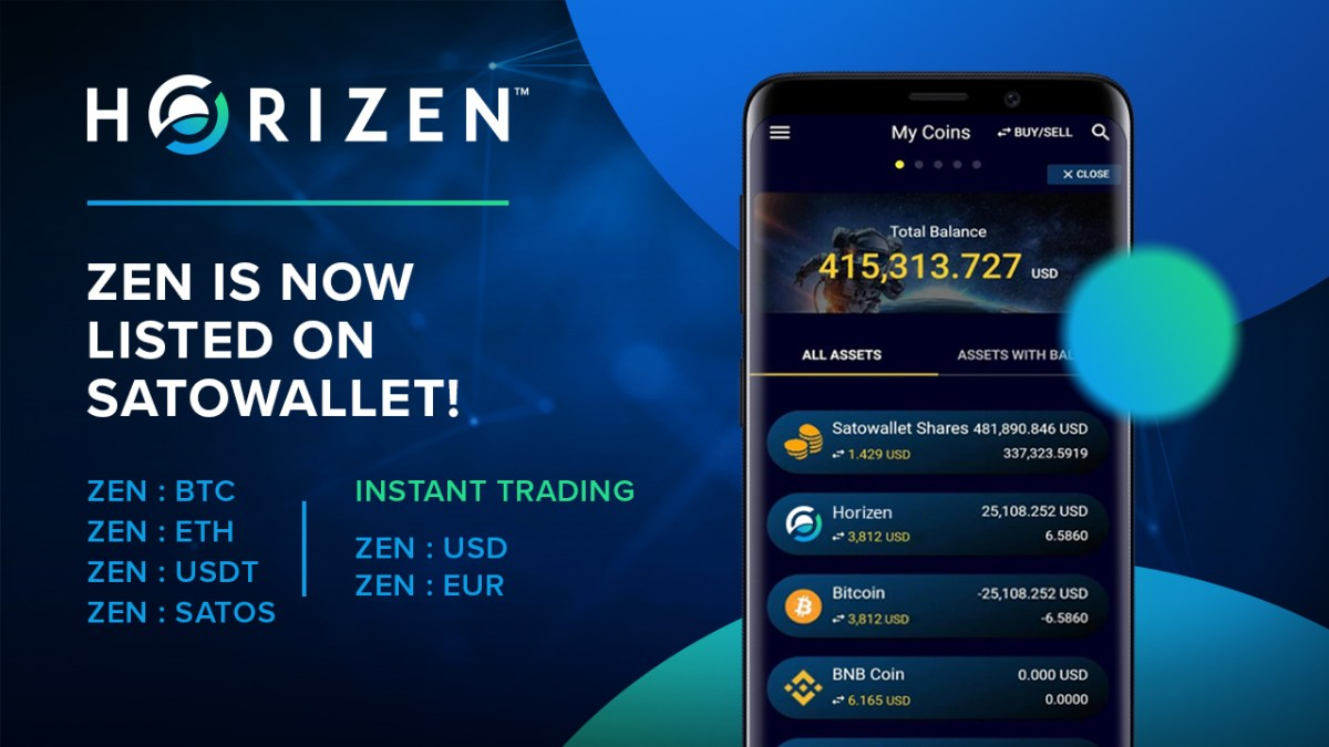 Horizen is Now Available on the SatoWallet Exchange!