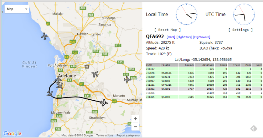 ADS-B Output from dump1090