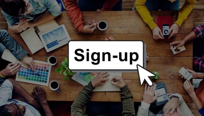 where to place email signup form
