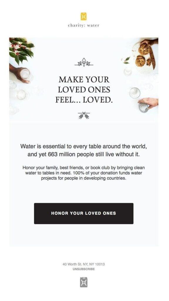 marketing emails for nonprofits