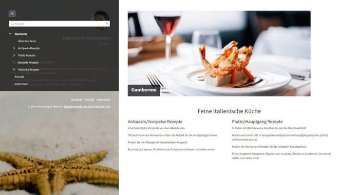 Italienische Küche Website