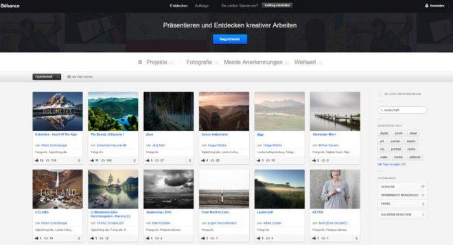 Landschaftsbilder auf Behance