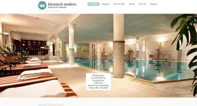 Startseite des Fotostudios klassisch-modern