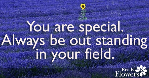 Out standing in your field