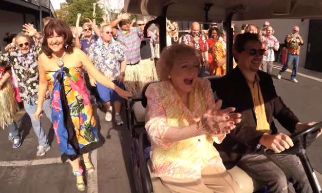 Betty White gets flash mobbed