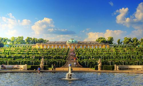 Sanssouci's terraced gardens.