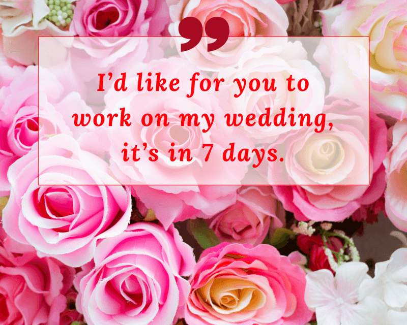 7 Things You Should Never Tell the Wedding Florist