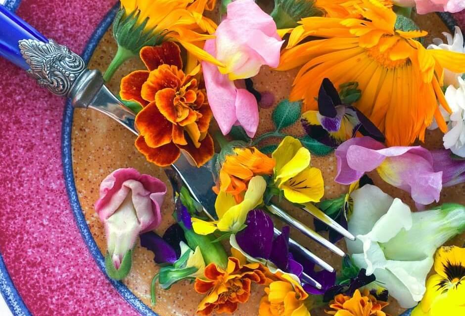 Flowers in a Platter