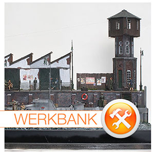 Inspektion in den Docks - ein Hafen-Diorama