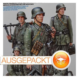 Paukenschlag auf dem Figurensektor! Tamiyas neue deutsche Infanterie-Gruppe.
