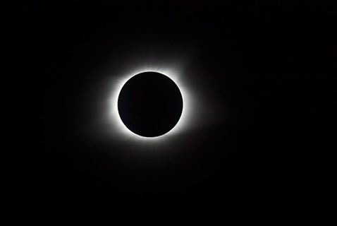 Pete's Totality photo through the telescope