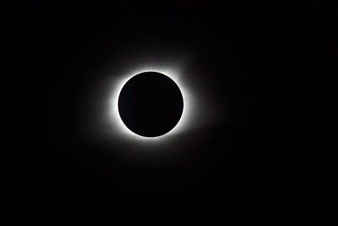 Pete's Totality photo through the telescope