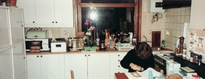 Sandra in de keuken