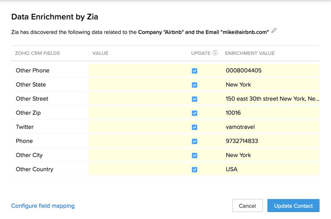 enriquecimento de dados zia