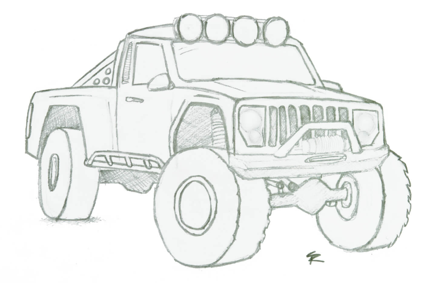 Jeep Comanche Drawings