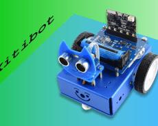 Robot KitiBot 2WD sa učí používať snímače