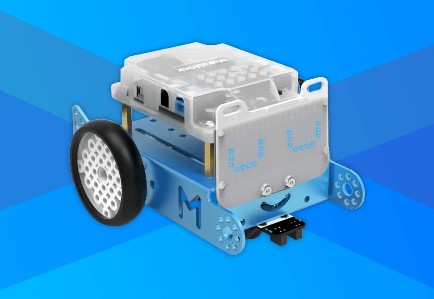 Súprava modulov a snímačov ovláda robot zo súpravy mBot Explorer Kit