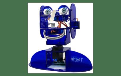 Zvukový a hlasový prejav robota Ohbot 2.1
