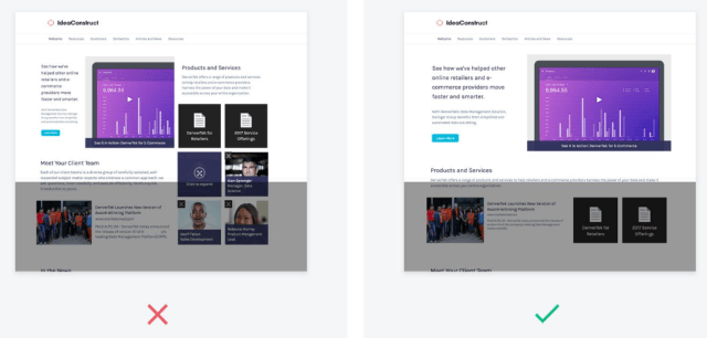 Design tips for page layout microsites