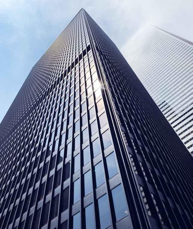 A large business building