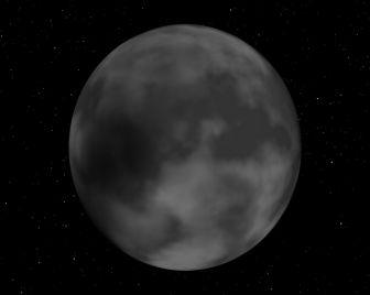 Lune avec texture procédurale