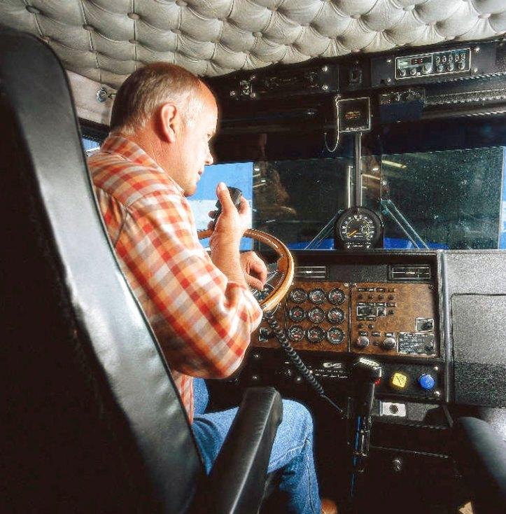 Trucker with CB radio