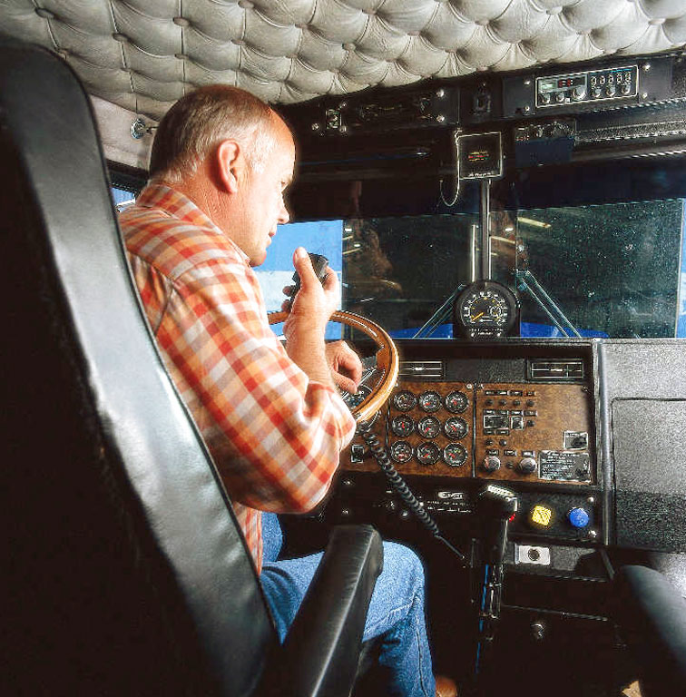 Trucker with CB radio