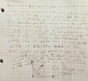 A student's conspiracy theory on Drake, chicken wings, Blake, money, and the Illuminati. And some math, too.